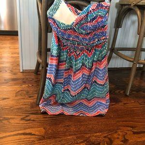Strapless sweetheart Shoshanna dress